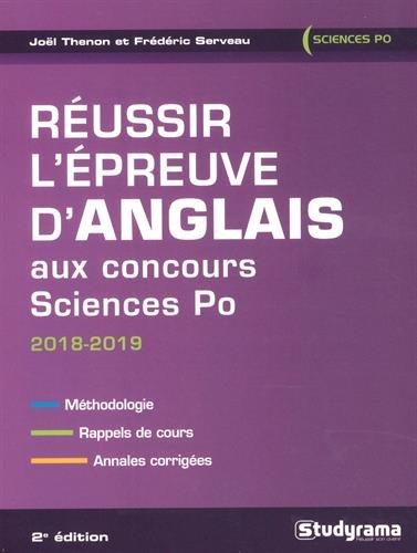 Réussir l'épreuve d'anglais aux concours Sciences Po par Joël Thenon