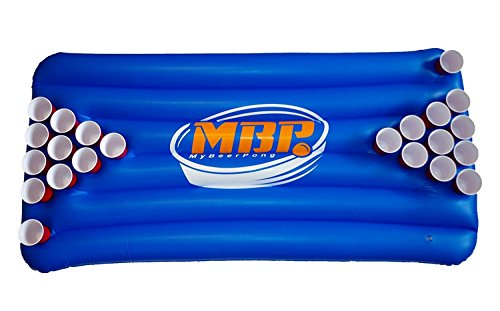 *My Beer Pong Beer Pong Luftmatratze / Bier Pong Matratze für rote Partybecher Blau Gr. 183x91x10 cm*