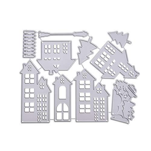 SparkLia Weihnachts-Serie Stanzschablonen Metall Schablone Form für DIY Scrapbooking und Prägung Papier Basteln Scrapbook Supplies Kartenherstellung #9