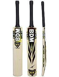 Prueba Súper 2000 BDM Cachemira Willow Wood tamaños adultos bate de cricket Con Carry Case - Elija Peso