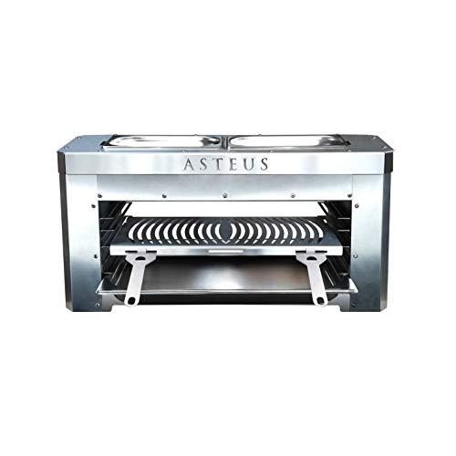 Asteus 4260293725400 Family V2-800 Grad Infrarot Elektro Grill, Silber 70 x 25 x 34 cm