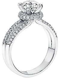 Diamond Engagement Ring in 14K Gold / White - GIA Certified, Round, 1.34 Carat, D Color, SI2 Clarity