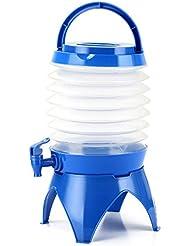asdomo plegable bebidas dispensador portátil retráctil grifo de recipiente con base de agua Camping para cerveza vino agua zumo partido barbacoa Camping Picnic, azul