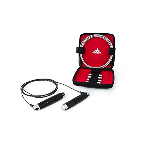 Adidas Skipping Rope Set With Carrying Case Black