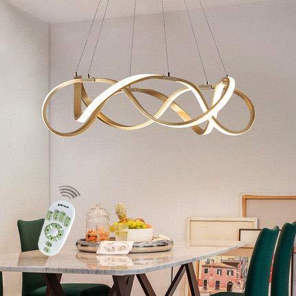 LED Pendelleuchte Dimmbar Deckenlampe Kreative Kronleuchter Dimmbar Lüster SMD-Lampe Perlen Hängeleuchte Höhenverstellbar Ringe Küchen Hängelampe Wohnzimmer Designleuchte Deckenlampe Schlafzimmer