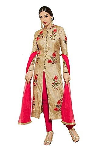 Vastrang Sarees Women\'s Cotton Dupatta (Mastani-Cream_Cream and Red_Free Size)