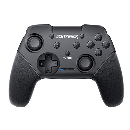 ECHTPower Nintendo Switch Controller, Kabelloser Bluetooth Switch Controller, Wireless Gamepad Joystick mit Wiederaufladbarer Akku, DualShock und Turbo Funktionen 6-Achsen Gyroskop für Nintendo Switch (Konsole Super Nur Nintendo Die)