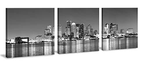 iß, 3-teiliges Wandbild mit Skyline von Boston ()