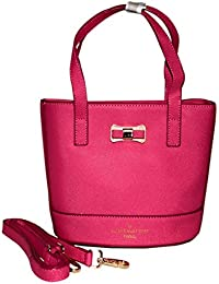 Rahseh LV Fashion Hot Pink Color Leather PU Sling Bag/Hand Bag For Women's & Girl's