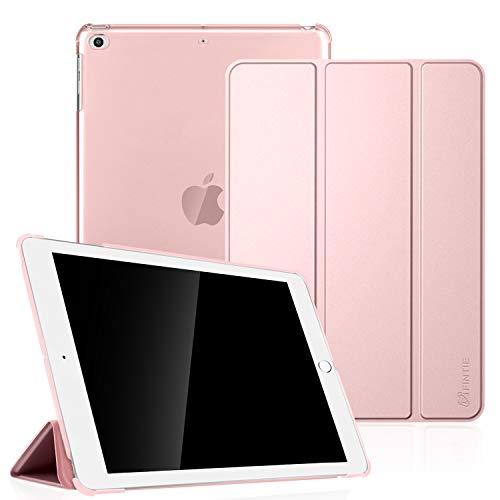 Fintie Hülle für iPad Air 2 (2014 Modell) / iPad Air (2013 Modell) - Ultradünne Superleicht Schutzhülle mit Transparenter Rückseite Abdeckung mit Auto Schlaf/Wach Funktion, Roségold -