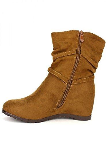 Cendriyon, Bottine simili cuir Camel SIALIS Chaussures Femme Caramel