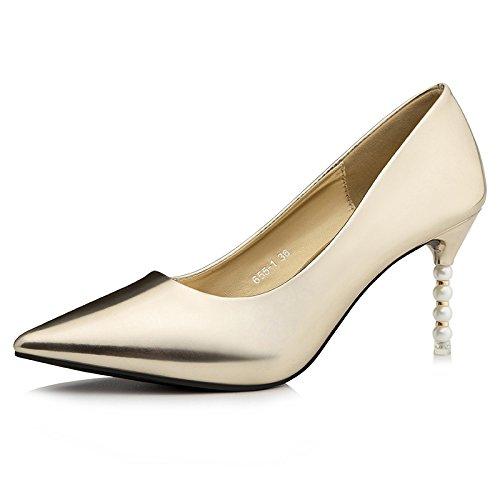 FLYRCX In autunno e in inverno le donne della moda punta sottile sexy tacco alto scarpe tacco Scarpe partito dimensione europea: 34-39 C