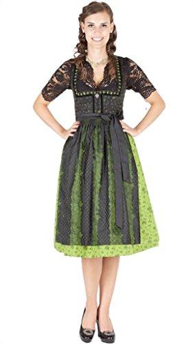 13015 Wenger Dirndl Pia 70er grün schwarz Size 34