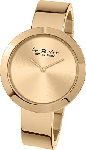 Jacques Lemans Damen-Armbanduhr La Passion Analog Quarz Edelstahl LP-113G