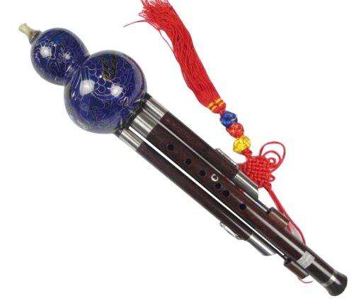 Ebenholz Cloisonne 3 Octave Gourd Flute Hulusi Woodiwnd + Fall #109 - Ksotenloser Versand, Weltweit