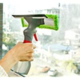 INAARVI™ 3 in 1 Plastic Easy Glass Spray Type Cleaning Brush Wiper Clean Shave Car Window Cleaner for Car Window, Mirror, Gla