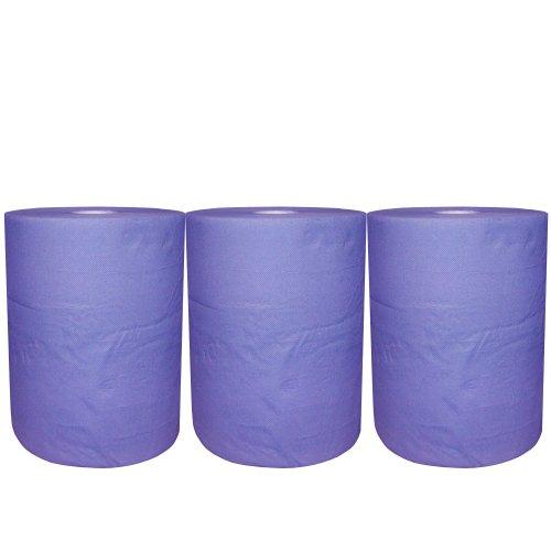 Preisvergleich Produktbild 3Putztuchrollen blau je ca. 185m lang R166