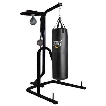 Three-Station Heavy Duty Punching Bag Stand by Everlast , 54.00 x 54.00 x 84.00 Inches by Everlast