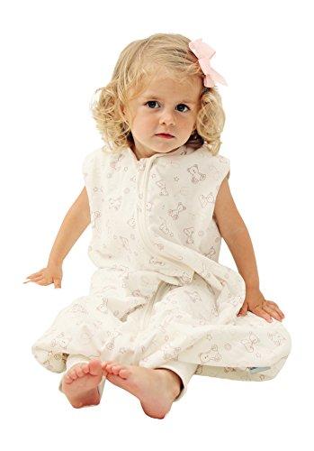 Schlummersack Schlafsack mit Füßen ganzjährig in 2.5 Tog - Teddy - 18-24 Monate/90 cm