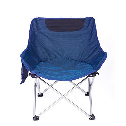 ltende tragbare leichte einfache Fischen Camping Garten Freizeit Stuhl (Color : Blue) ()
