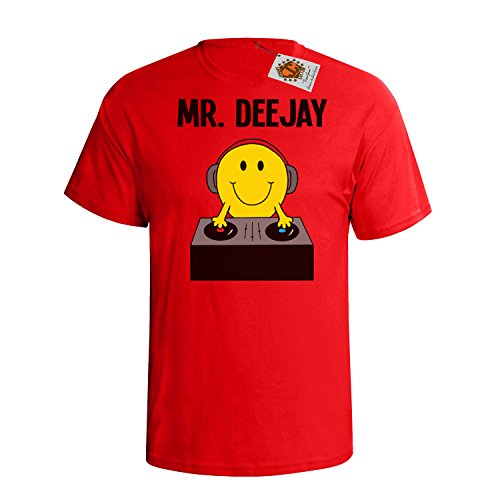 `Mr Deejay` mens herren Hobbies / Berufe perfect music DJ gift t shirt Rote