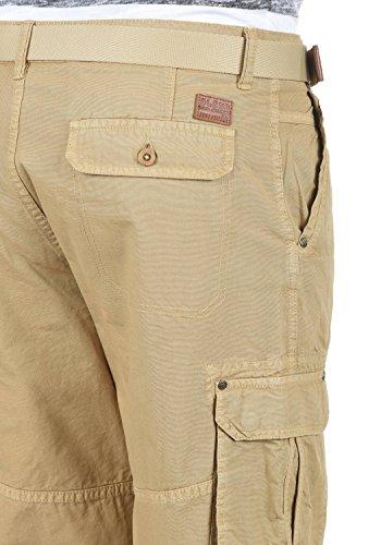 BLEND Renji Herren Cargo-Shorts kurze Hose mit Taschen aus 100% Baumwolle Chalk Stone (70032)