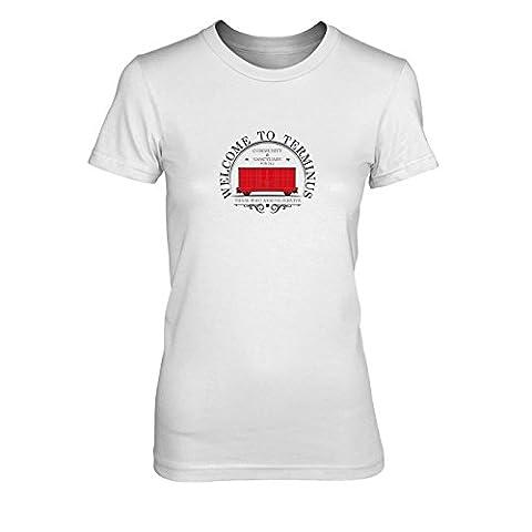 Welcome to Terminus - Damen T-Shirt, Größe: M, Farbe: