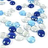 HAKACC Glasnuggets, 450g Glassteine Muggelsteine Blau Dekosteine Mosaiksteine Cabochon Deko