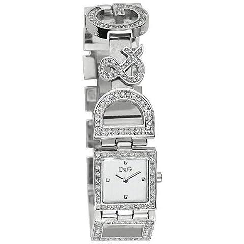 D & G–DW0031–Ladies Watch–Analogue Quartz–Silver Dial–Steel Bracelet