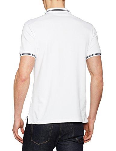 Armani Jeans Herren Poloshirt 8n6f2b6jptz Weiß (blu Notte 1100)