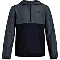Under Armour Packable 1/2 Zip Jacket Parte Superior del Calentamiento, Niños, Gris, YLG