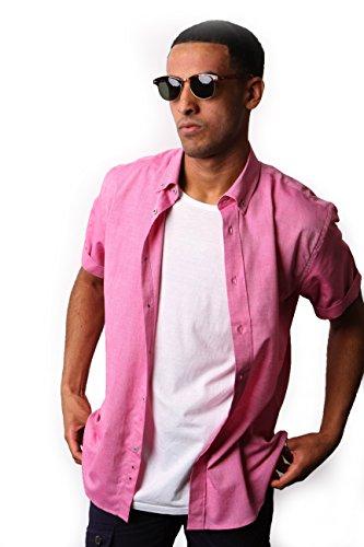 Alexander Hay -  Camicia classiche  - Basic - Con bottoni  - Uomo Red