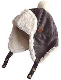 Xiton 1pc doux bébé en peluche Chapeau d hiver Trooper Cap enfants Chapka  avec boucle b3b42228ba3