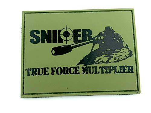 SNIPER True Force Multiplier Verde Oliva PVC Airsoft Patch