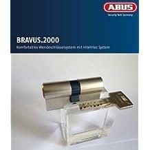 ABUS Bravus. 2000 Seguridad - Cilindro doble con 5 llaves, Largo 40/50mm con Tarjeta de seguridad y más alto Protección de copiadora, Equipo adicional: Necesario u. Función de riesgo