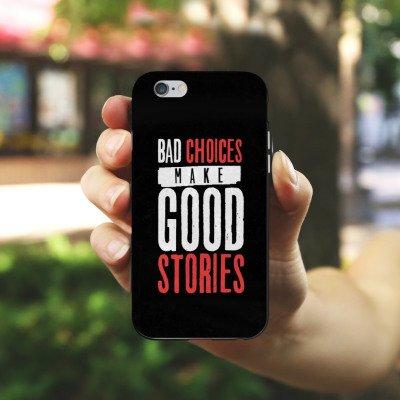 Apple iPhone X Silikon Hülle Case Schutzhülle Sprüche Humor Statement Silikon Case schwarz / weiß