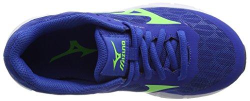 Mizuno Synchro Jnr, Scarpe da Corsa Bambino Blu (Nautical Blue/green Gecko/blue Depths)