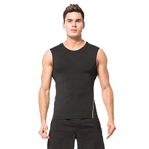 NiSeng Uomo 3 Pezzi,Sportiva Fitness Running Jogging Abbigliamento Asciugatura Rapida,Manica Corta T-Shirt,Pantaloncini Sportivi,Corto Legging 5 # T-Shirt