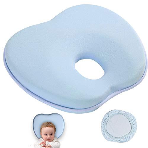 y Schaum Soft Baby Head Positionierer Kissen, Verhindert Flachen Kopf. (Blau Apple Form) ()