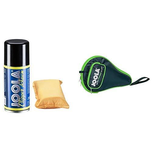 JOOLA Tischtennis Zubehör Belag-Pflege-Set, 84051 & JOOLA TT-Hülle Pocket schwarz-grün