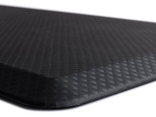 The Original 3/4 KANGAROO (TM) Non-Slip Anti-Fatigue Comfort Mat, Ergonomically Engineered, Non-Toxic, Waterproof, 32x20 inches (Black) by Kangaroo Brands