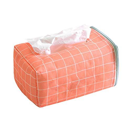 Busirde Tragbare Auto Tissue Box Startseite Tissue Container-Tuch-Serviette-Gewebe-Halter Home Office Desktop- rot 18.5 * 11 * 9cm