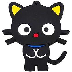 aneew 32GB Pendrive Animal Cartoon Negro Gato modelo USB Flash Drive Pendrive de memoria pulgar stick