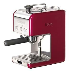 Kenwood ES 021 kMix Espressomaschine Siebträger (1100 Watt, 15 bar, 1 Liter) rot