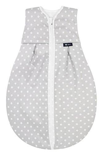 Alvi Kugelschlafsack Thermo | Baby-Schlafsack ärmellos, Größe:110, Design:kleiner Stern grau