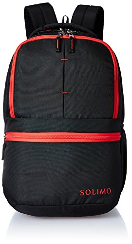 Amazon Brand - Solimo 25 Ltrs Black Casual Backpack