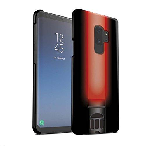 Stuff4® Matte Snap-On Hülle/Case für Samsung Galaxy S9 Plus/G965 / Vader Sith Herr Rot Muster/Lightsaber Laserschwert ()