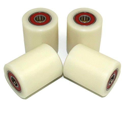 4Stück Nylon-Polyamid-Rollen, 40mm Durchmesser, 50mm breit, 10mm stark, präzise gefräst