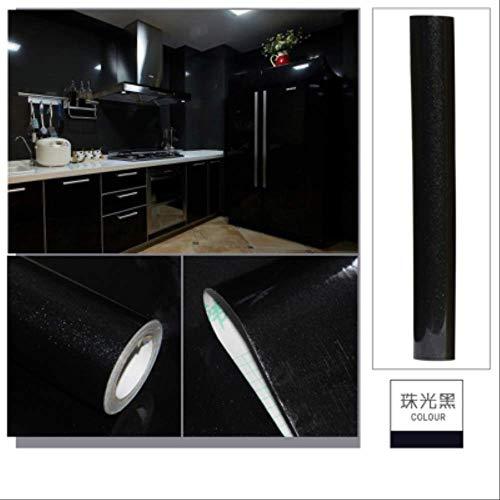 Tapete Selbstklebende Einfache Dicke Pvc-Farbe Perlglanz Wasserdicht Renovierung Aufkleber Kleiderschrank Küchenschrank Kühlschrank Nach Hause 60 * 200Cm