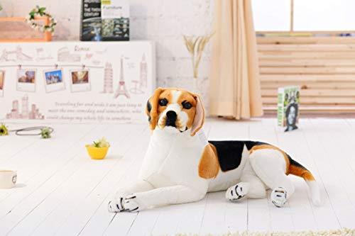 ysldtty Riesen Big Size BeagleHundespielzeugRealistischeKuscheltiereHundPlüschtiereGeschenk Für Kinder Wohnkultur Pet Store Förderung Maskottchen 90 cm Sitzen (Wohnkultur)